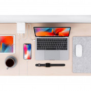HyperDrive USB-C Hub 87W Power Adapter - USB-C хъб с два USB изхода и USB-C изход за Apple 61W USB-C Power Adapter (бял) 2