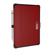 Urban Armor Gear Metropolis Folio Case - удароустойчив хибриден кейс от най-висок клас за iPad 5 (2017), iPad 6 (2018) (червен-черен) 3