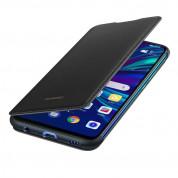 Huawei Flip Cover Case - оригинален кожен калъф за Huawei P Smart (2019) (черен)