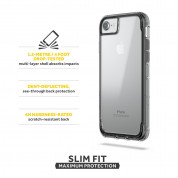 Griffin Survivor Clear Case - хибриден удароустойчив кейс за iPhone 8, iPhone 7, iPhone 6S, iPhone 6 (черен) 2