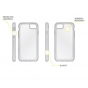 Griffin Survivor Clear Case - хибриден удароустойчив кейс за iPhone 8, iPhone 7, iPhone 6S, iPhone 6 (черен) 1