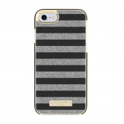 Kate Spade Wrap Glitter Stripe Case - удароустойчив хибриден кейс за iPhone SE (2020), iPhone 8, iPhone 7 (черен) 2