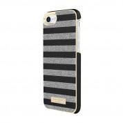 Kate Spade Wrap Glitter Stripe Case - удароустойчив хибриден кейс за iPhone 8, iPhone 7 (черен) 1