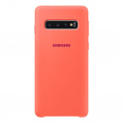 Samsung Silicone Cover Case EF-PG973TH - оригинален силиконов кейс за Samsung Galaxy S10 (розов)