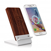 Seenda Qi Wireless Charging Wood Stand with LED Light 3