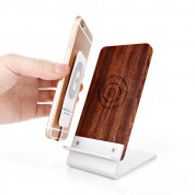 Seenda Qi Wireless Charging Wood Stand with LED Light 2
