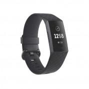 Fitbit Charge 3 - гривна с дисплей за следене на дневната и нощна активност на организма за iOS и Android (черен)