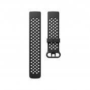 Fitbit Charge 3 Accessory Sport Band Large - еластична силиконова каишка за Fitbit Charge 3 (черен)