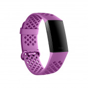 Fitbit Charge 3 Accessory Sport Band Large - еластична силиконова каишка за Fitbit Charge 3 (лилав) 2