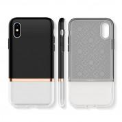 Spigen La Manon Jupe Case - дизайнерски хибриден кейс за iPhone XS, iPhone X (черен)  5