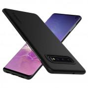 Spigen Thin Fit Case - качествен тънък матиран кейс за Samsung Galaxy S10 (черен) 1