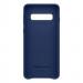 Samsung Leather Cover EF-VG973LN - оригинален кожен калъф (естествена кожа) за Samsung Galaxy S10 (тъмносин) 2