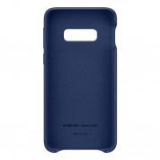Samsung Leather Cover EF-VG970LN - оригинален кожен калъф (естествена кожа) за Samsung Galaxy S10E (тъмносин) 1