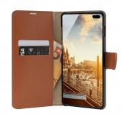 JT Berlin BookCase Kreuzberg Case - хоризонтален кожен (естествена кожа) калъф тип портфейл за Samsung Galaxy S10 Plus (кафяв) 2