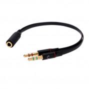 Audio Splitter - Аудио сплитер (адаптер) 1 х 3.5 женско към 2 х 3.5 мъжко за мобилни устройства 1