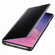 Samsung Clear View Cover EF-ZG975CB - оригинален кейс, през който виждате информация от дисплея за Samsung Galaxy S10 Plus (черен) 1
