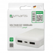 4smarts Power Bank VoltHub Go 10000 mAh - външна батерия с 2 USB изхода (бял) 4