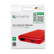 4smarts Power Bank VoltHub Go 5000 mAh with USB output (red) 4