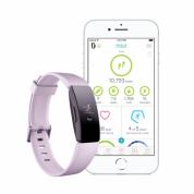 Fitbit Inspire HR - гривна с дисплей за следене на дневната и нощна активност на организмa за iOS, Android и Windows Phone (лилав)  2