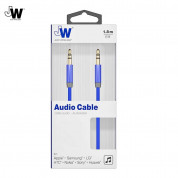 Just Wireless Aux Audio Cable - качествен 3.5 мм. аудио кабел (180 см) (син) 1