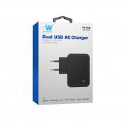Just Wireless Mains Charger 4.2A EU - захранване за ел. мрежа 4.2A с 2 USB изхода (черен) 1