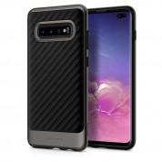 Spigen Neo Hybrid Case - хибриден кейс с висока степен на защита за Samsung Galaxy S10 Plus (черен-сив)