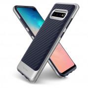 Spigen Neo Hybrid Case - хибриден кейс с висока степен на защита за Samsung Galaxy S10 Plus (син-сребрист) 4