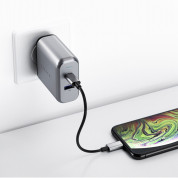 Satechi 30W Dual USB-C Wall Charger - захранване с USB-C изход (18W) и 1 x USB 3.0 изход (сив) 10