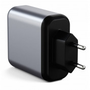 Satechi 30W Dual USB-C Wall Charger - захранване с USB-C изход (18W) и 1 x USB 3.0 изход (сив) 1