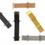 4smarts Metal Milanese Loop Band - стоманена, нераждаема каишка за Apple Watch 38мм, 40мм (черен) 1