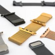 4smarts Metal Milanese Loop Band - стоманена, нераждаема каишка за Apple Watch 38мм, 40мм (тъмносив) 2