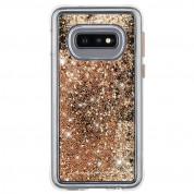 CaseMate Waterfall Case - дизайнерски кейс с висока защита за Samsung Galaxy S10E (златист)