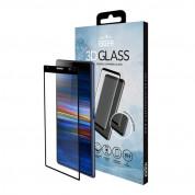 Eiger 3D Glass Edge to Edge Full Screen Tempered Glass - калено стъклено защитно покритие с извити ръбове за целия дисплея на Sony Xperia 10 Plus (черен-прозрачен) 2