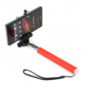 Omega Monopod Smartphones Cable Telescopic Pole Selfie Stick (red) 3