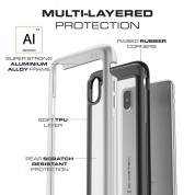 Ghostek Atomic Slim Case - хибриден удароустойчив кейс за iPhone XS, iPhone X (сребрист) 1