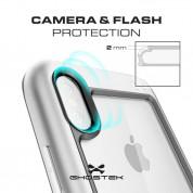 Ghostek Atomic Slim Case - хибриден удароустойчив кейс за iPhone XS, iPhone X (сребрист) 2