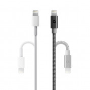 Nonda ZUS 90 Lightning Carbon Fiber Cable - Lightning кабел с оплетка от карбон за iPhone, iPad и устройства с Lightning порт 2