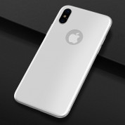 Pantera Glass 3D Tempered Glass for The Back Side - каленo стъкленo защитнo покритие за задната част на iPhone XS, iPhone X (бял) 2