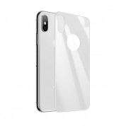 Pantera Glass 3D Tempered Glass for The Back Side - каленo стъкленo защитнo покритие за задната част на iPhone XS, iPhone X (бял) 1