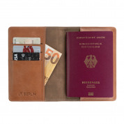 JT Berlin Leather Passport Wallet Tegel (cognac) 4