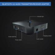Rovtop 2 in 1 Stereo Bluetooth 4.2 Receiver & Transmitter - аудио трансмитер и рисийвър за безжично прехвърляне на аудио 3
