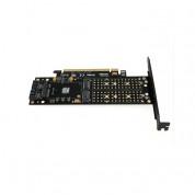 FOVORE PCIE X16 TO m.2 B Key NGFF SSD + m.2 M Key NGFF SSD + mSATA SSD 3 in 1 converter 1