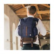 Moshi Captus Rolltop Backpack 45L  - елегантна и качествена раница за MacBook Pro 15 и лаптопи до 15 инча (син) 4