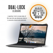 Urban Armor Gear Plyo Case - удароустойчив хибриден кейс за Apple MacBook Air 13 (2018) (прозрачен) 5