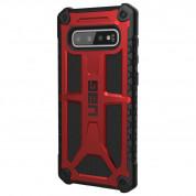 Urban Armor Gear Monarch - удароустойчив хибриден кейс за Samsung Galaxy S10 Plus (червен)