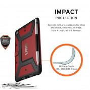 Urban Armor Gear Metropolis Folio Case - удароустойчив хибриден кейс от най-висок клас за iPad Mini 5 (2019) (червен-черен) 2