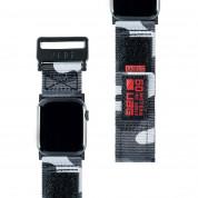 Urban Armor Gear Active Watch Strap - изключително здрава текстилна каишка за Apple Watch 42мм, 44мм (сив)