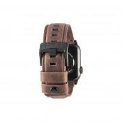 Urban Armor Gear Leather Strap - кожена (естествена кожа) каишка за Apple Watch 42мм, 44мм (кафяв) 2