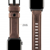 Urban Armor Gear Leather Strap for Apple Watch 42mm, 44mm (brown) 6