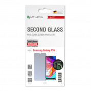 4smarts Second Glass - калено стъклено защитно покритие за дисплея на Samsung Galaxy A70 (прозрачен) 2
